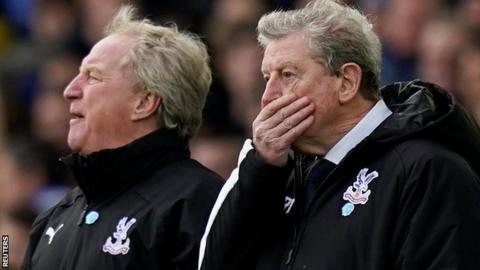 Roy Hodgson looks concerned on the touchline