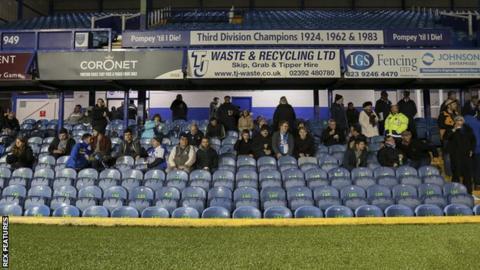 Bristol Rovers fans at Portamouth