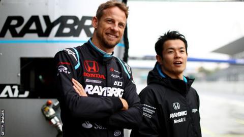 Honda GT drivers Naoki Yamamoto and Jenson Button