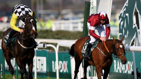 Davy Russell and Tiger Roll edge out Pleasant Company and David Mullins