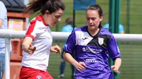 Abbi Grant (right) scored twice for Glasgow City against Spartans