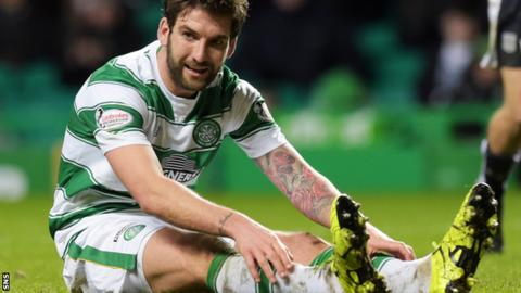 Charlie Mulgrew looks frustrated after seeing an effort saved by Scott Bain
