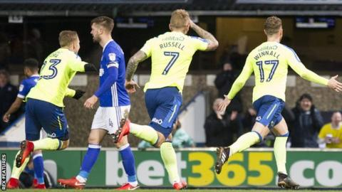 Derby County goalscorer Sam Winnall celebrates