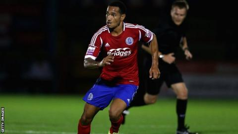 Jordan Roberts in action for Aldershot