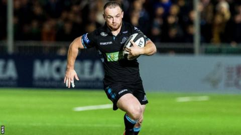 Glasgow Warriors centre Nick Grigg