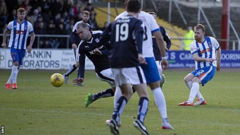 Steven Smith scores for Kilmarnock against Dundee