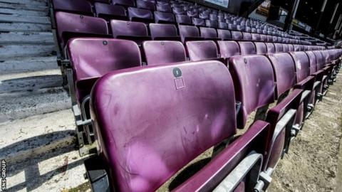Hearts are replacing the old main stand at Tynecastle