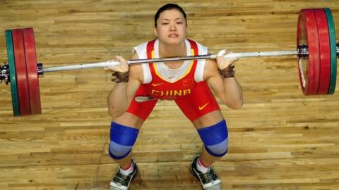Chinese weightlifter Cao Lei