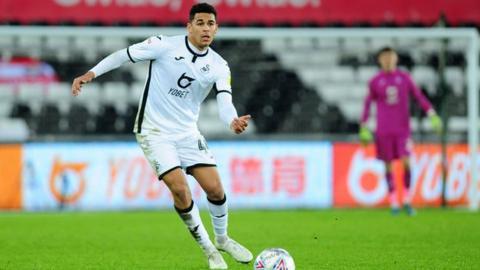 Swansea City defender Ben Cabango