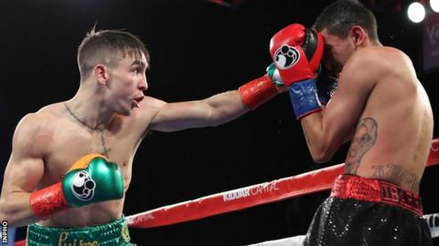 Michael Conlan has Tim Ibarra on the defensive in an excellent debut performance in New York