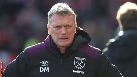 West Ham boss David Moyes urges unity amongst warring fans