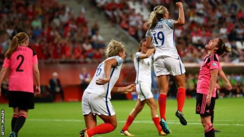 England won 6-0 against Scotland