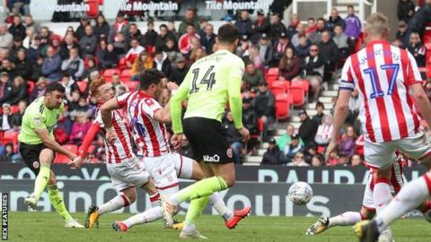 In-form Sheffield United full-back Enda Stevens has netted four times in six games for the Blades