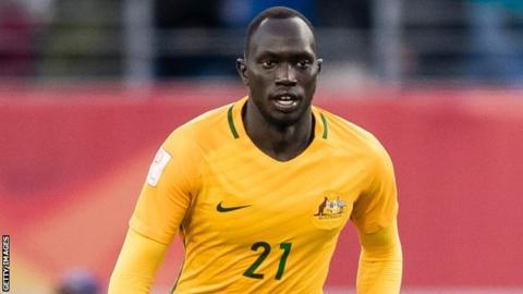 Former Australia under-23 player Ruon Tongyik