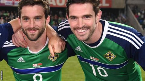 Will Grigg, left, and Kyle Lafferty, right, are popular choices by users of the BBC team selector tool