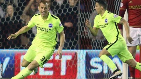 Steve Sidwell scores Brighton's winner