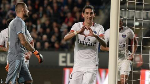 Angel Di Maria celebrates his goal