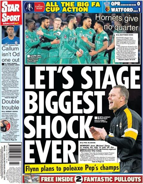 Star back page on Saturday