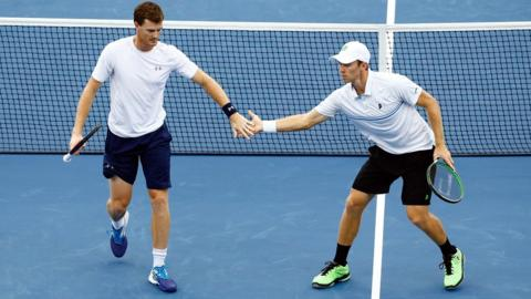 Jamie Murray and John Peers at the US Open doubles semi final