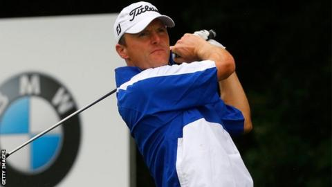 Michael Hoey tees off during the third round in Munich