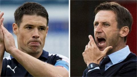 Dundee captain Darren O'Dea and Neil McCann
