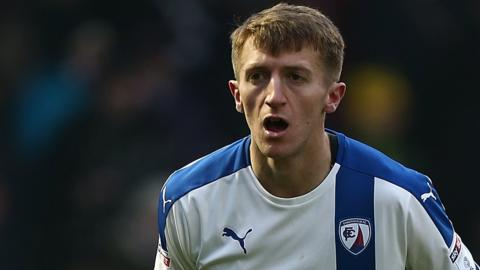 Tom Anderson in action for Chesterfield