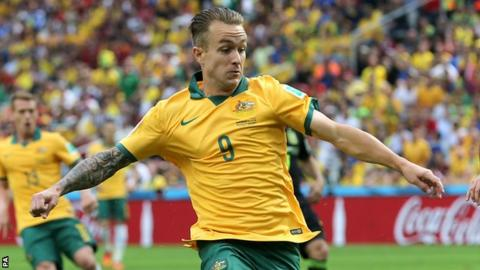 Adam Taggart played for Australia in the 2014 World Cup in Brazil