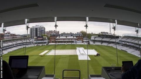 The light was poor over North West London for all four days of the Middlesex-Glamorgan game