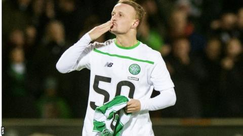 Griffiths reached 50 goals for Celtic faster than any other player in the club's history