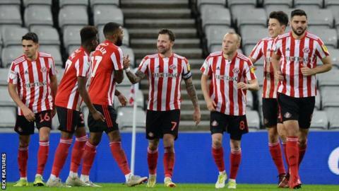 Sunderland celebrate goal