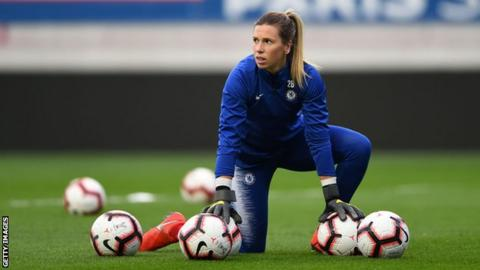 Carly Telford: Chelsea and England goalkeeper says playing at Stamford Bridge will be 'unbelievable'