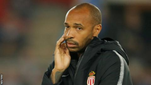 Monaco defeated in Thierry Henry's first game