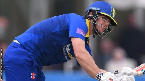 Durham's Alex Lees made his second and highest half-century for Durham in only his fourth List A appearance
