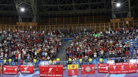 Liverpool fans in Napoli