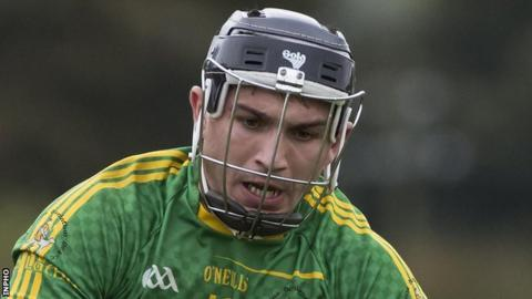 Nigel Elliott scored Dunloy's first goal in the Antrim final win over Cushendall