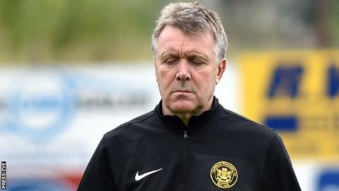 Kieran Harding was appointed to the Carrick Rangers job in late May