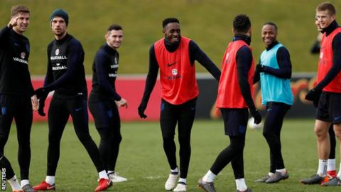 Danny Welbeck in England training