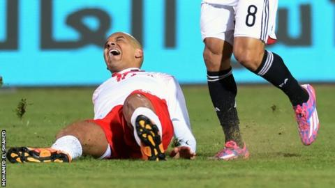 Wahbi Khazri suffered an injury during the 1-0 defeat by Egypt