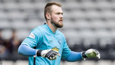 Dunfermline Athletic goalkeeper Ryan Scully