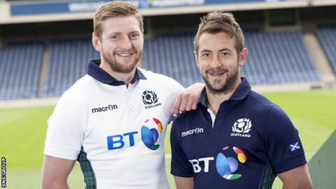 Captain Greig Laidlaw will be partnered by fly-half Finn Russell
