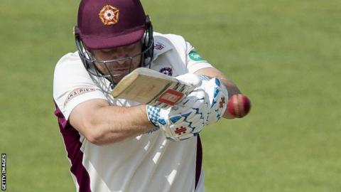 Northants batsman Adam Rossington