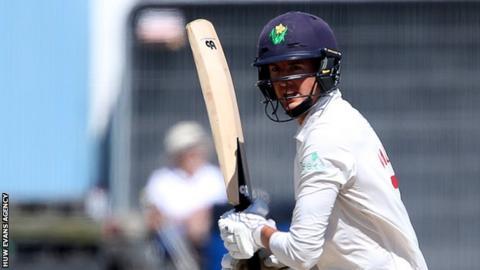 Jack Murphy bats for Glamorgan