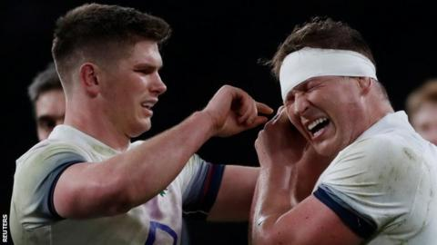 Owen Farrell (left) replaces the injured Dylan Hartley as England captain