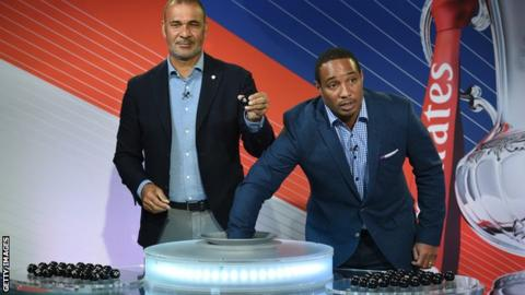 Ruud Gullit and Paul Ince.