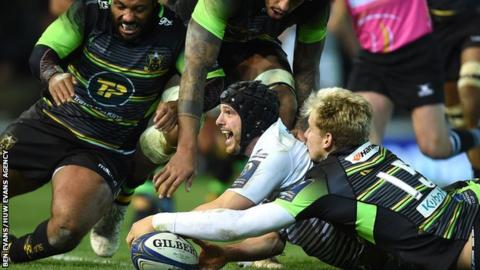 Ospreys full-back Dan Evans has been in fine try-scoring form this season, including a brace against Northampton in the Champions Cup