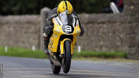 Gary Dunlop won the Moto3/125 class at the north Dublin meeting