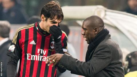 AC Milan's Kaka and Clarence Seedorf