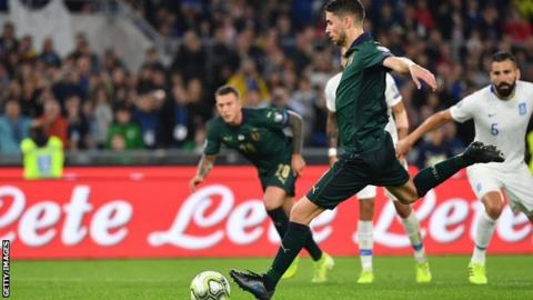Italy beat Greece 2-0 to secure Euro 2020 qualification