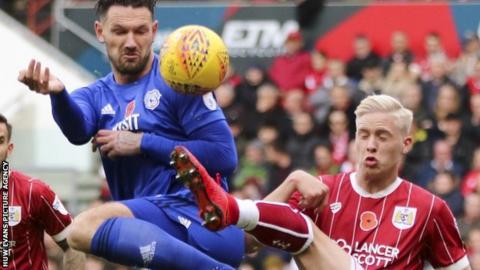 Sean Morrison in action against Bristol City