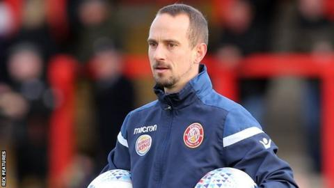 Stevenage first team coach Mark Sampson on the sidelines